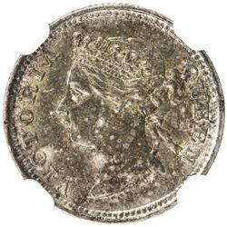 STRAITS SETTLEMENTS: Victoria, 1867-1901, AR 5 cents, 1891. NGC MS62