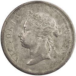 STRAITS SETTLEMENTS: Victoria, 1867-1901, AR 50 cents. EF