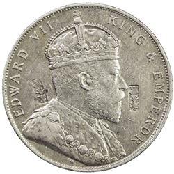 STRAITS SETTLEMENTS: Edward VII, 1901-1910, AR dollar, 1909
