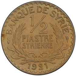 SYRIA: 1/2 piastre, 1921. PCGS MS65