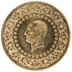 TURKEY: Republic, AV 100 kurush monnaie de luxe (7.01g), 1969. BU