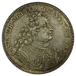 NOSTITZ-RIENECK: Anton Johann, 1683-1736, AR 1/2 thaler, 1719. PCGS AU53