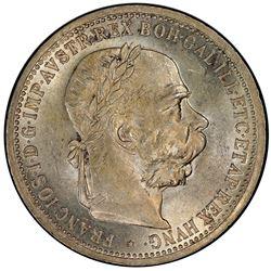 AUSTRIA: Franz Joseph I, 1848-1916, AR corona, 1907. PCGS MS63