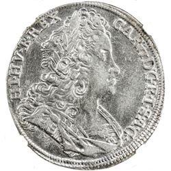 BOHEMIA: Karl VI, 1711-1740, AR 1/2 thaler, 1722. NGC AU