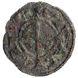 LATIN PRINCIPALITY OF ACHAIA: Guillaume II Villehardouin, 1246-1278, AE denier (0.76g), Corinth. F