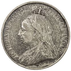 CYPRUS: Victoria, 1837-1901, AR 18 piastres, 1901. VF-EF