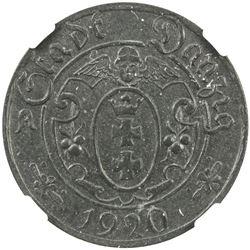 DANZIG: Free City, 10 pfennig, 1920. NGC MS63