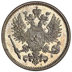FINLAND: Alexander II, 1855-1881, AR 50 pennia, 1874. PCGS MS64