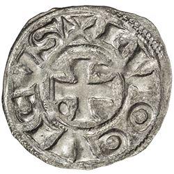FRANCE: Carolingian, AR denier (1.03g), ND (ca. 10th century). AU