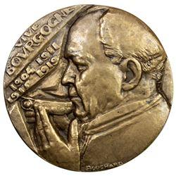 FRANCE: AE medal (447.3g), 1929. EF