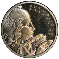 FRANCE: Fourth Republic, 100 francs, 1954. PCGS SP