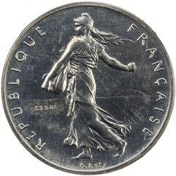 FRANCE: Fifth Republic, 1 franc, 1959. NGC SP