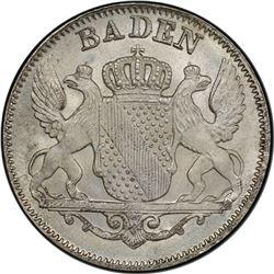 BADEN: Karl Leopold Friedrich, 1830-1852, AE 6 kreuzer, 1844. PCGS MS67