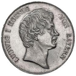 BAVARIA: Ludwig I, 1825-1848, AR kronenthaler, 1836. UNC