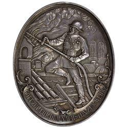 BAVARIA: AR medal (150.59g), 1893. AU