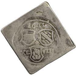 BREISACH: AR 48 kreuzer klippe (16.33g), 1633. VG