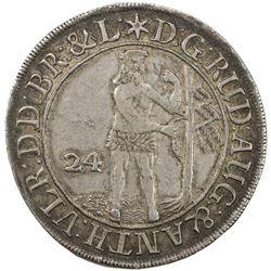BRUNSWICK-WOLFENBUTTEL: Rudolf August und Anton Ulrich, 1685-1704, AR 24 mariengroschen, 1691. EF