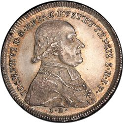 EICHSTADT: Josef, Graf von Stubenberg, 1790-1802, AR 1/2 thaler, 1796. PCGS MS63