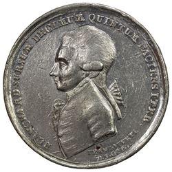 FRANKFURT: white metal medal, 1785. VF