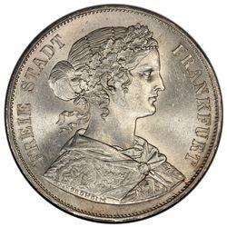FRANKFURT: AR 2 thaler, 1866. PCGS MS62
