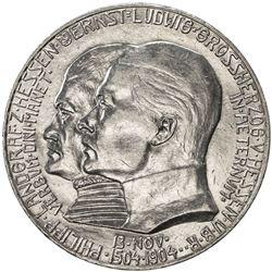 HESSE-DARMSTADT: Ernst Ludwig, 1892-1918, AR 5 mark, 1904. EF-AU