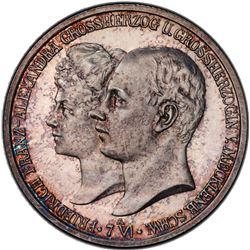 MECKLENBURG-SCHWERIN: Friedrich Franz IV, 1897-1918, AR 2 mark, 1904-A. PCGS PF66