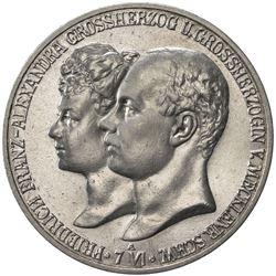 MECKLENBURG-SCHWERIN: Friedrich Franz IV, 1897-1918, AR 5 mark, 1904-A. EF-AU