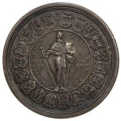 MUNSTER (BISHOPRIC): Sede vacante, 1719, AR medallic 1 1/2 thaler (43.40g), 1719. VF