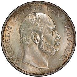 PRUSSIA: Wilhelm I, 1861-1888, AR thaler, 1871-A. PCGS MS64