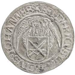 SAXONY: Friedrich III, Georg und Johann, 1500-1507, AR schreckenberger (4.39g), Annaberg. EF