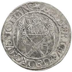 SAXONY: Friedrich III, Georg und Johann, 1500-1507, AR schreckenberger (4.29g), Annaberg. EF