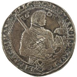 SAXONY: Christian II, Johann Georg Ier et August, 1601-1611, AR thaler, Dresden, 1603. VF