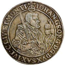 SAXONY: Johann Georg I, 1615-1656, AR thaler, 1645. EF