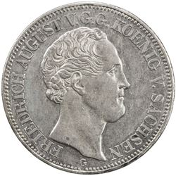 SAXONY: August II, 1836-1854, AR thaler (22.15g), Dresden, 1834-G. AU
