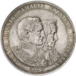 SAXONY: Johann, 1854-1873, AR 2 thaler (37.08g), 1872-B. AU