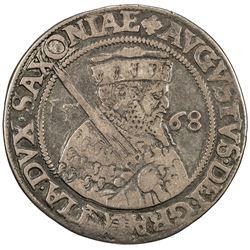 SAXE-ALBERTINE LINE: August, 1553-1586, AR 1/4 thaler, Dresden, 1568. F-VF