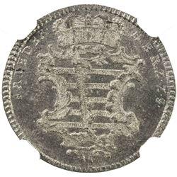SAXE-GOTHA-ALTENBURG: Friedrich III, 1732-1772, BI 6 pfennig, 1758-LCK. NGC MS66