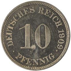 GERMANY: Kaiserreich, 10 pfennig, 1909-G. PF