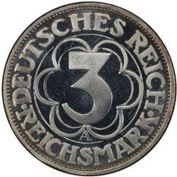 GERMANY: Weimar Republic, AR 3 reichsmark, 1927-A. PCGS PF66