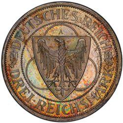 GERMANY: Weimar Republic, AR 3 reichsmark, 1930-A. PCGS PF66