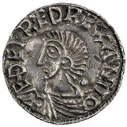ENGLAND: Ethelred II, 978-1016, AR penny (1.29g), ND. EF