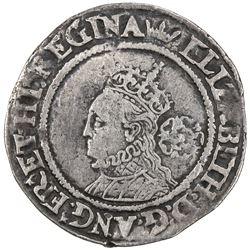ENGLAND: Elizabeth I, 1558-1603, AR 6 pence (3.04g), 1569. VF