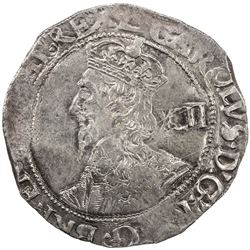 ENGLAND: Charles I, 1625-1649, AR shilling (6.13g), London, ND (1633-40). EF