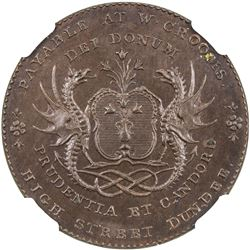 SCOTLAND: AE halfpenny token, ND (1790s). NGC MS64