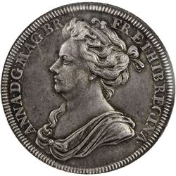 GREAT BRITAIN: Anne, 1702-1714, AR medal, 1702. NGC AU55