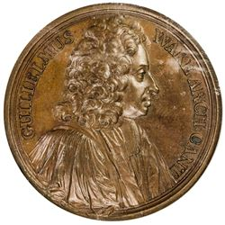 GREAT BRITAIN: AE medal, 1725. NGC MS63
