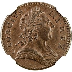 GREAT BRITAIN: George III, 1760-1820, AE farthing, 1773. NGC MS62