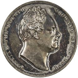 GREAT BRITAIN: William IV, 1830-1837, AR medal (18.04g), 1831. EF
