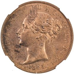 GREAT BRITAIN: Victoria, 1837-1901, AE halfpenny, 1841. NGC MS65