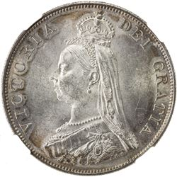 GREAT BRITAIN: Victoria, 1837-1901, AR double florin, 1887. NGC MS63